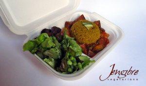 Estofado de berengenas y quinoa
